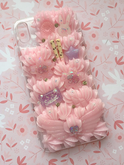 iPhone XS Max Decoden Phone Case Kawaii Sakura & Sweets