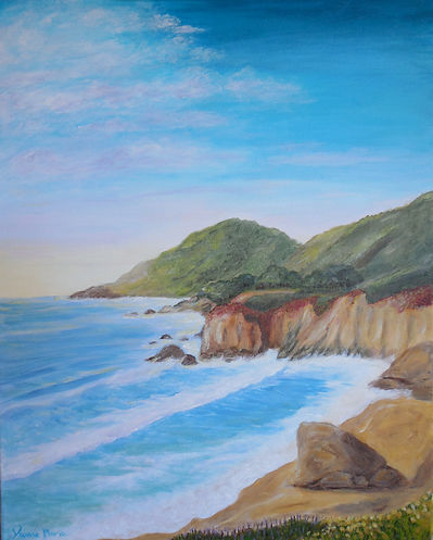California Coast Painting ocean