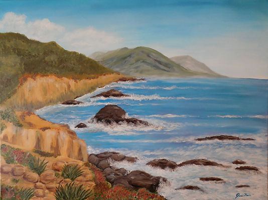 Painting of California Coast ocean