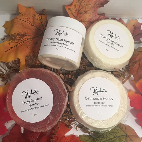 Three Bar Soap and 2 oz Whipped Body Butter