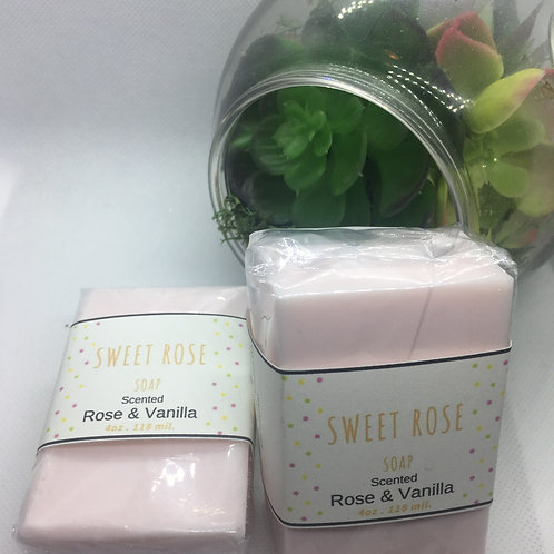 Sweet Rose Bath Bar 4oz