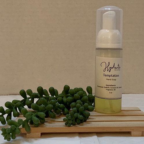 Temptation Hand Soap 1oz (fragranced with Veviter)