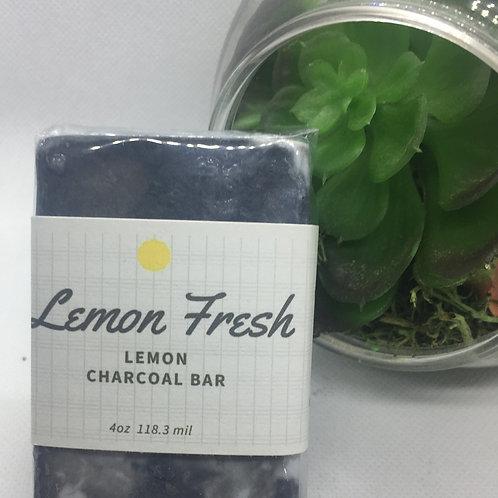 Charcoal Soap 4 oz bar Lemon