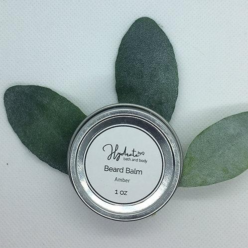 Hydrate Beard Balm 1 oz  (fragranced with Amber)