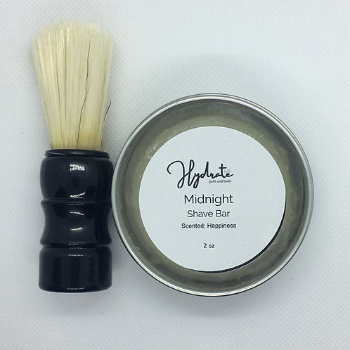 Mid-Night Shave Soap 2 oz (fragranced with Happiness)