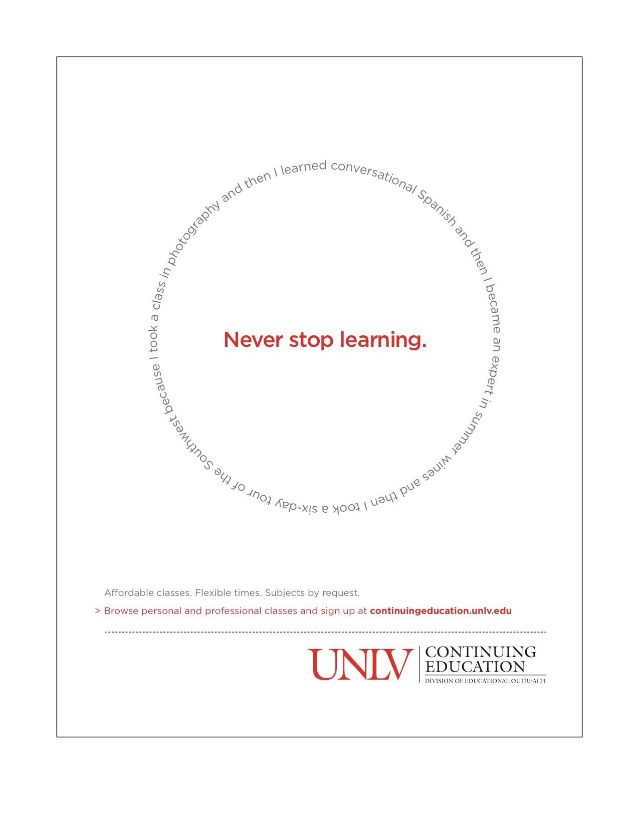 UNLV Continuing Ed Ad