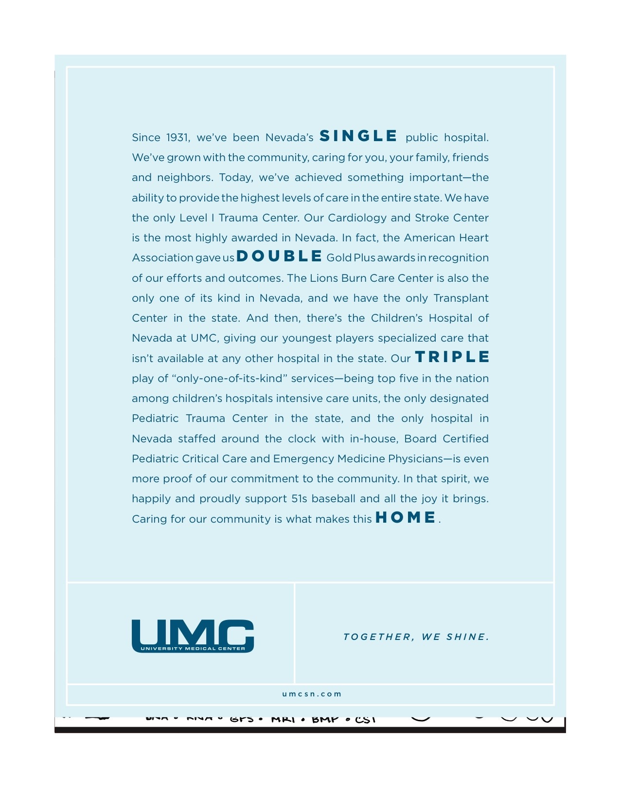 UMC 51s Program Ad