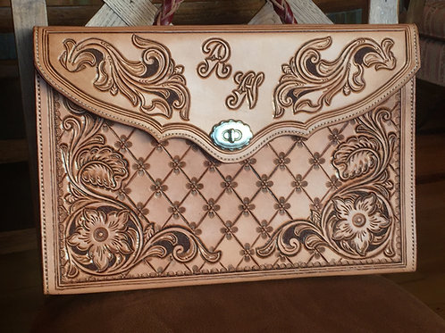 Western Style Leather Briefcase