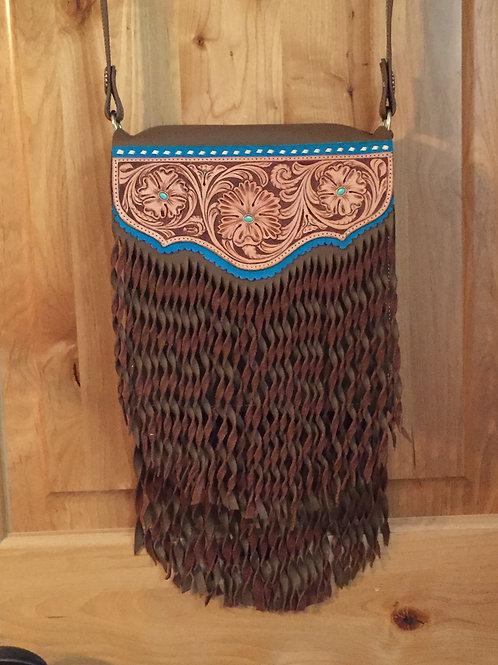 Western Tooled Leather Boho Bag Purse