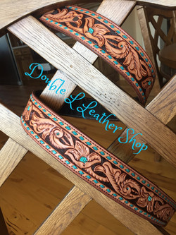 Floral carved belt