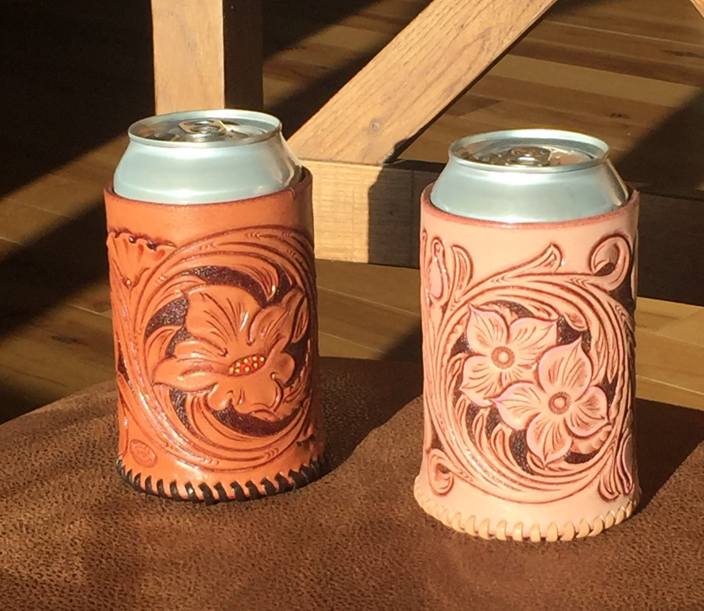 Leather Can Koozie