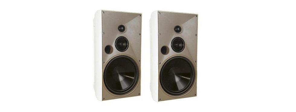 "Proficient Audio AW830WHT 8"" 3-Way Indoor/Outdoor Speaker - Pair (White)"