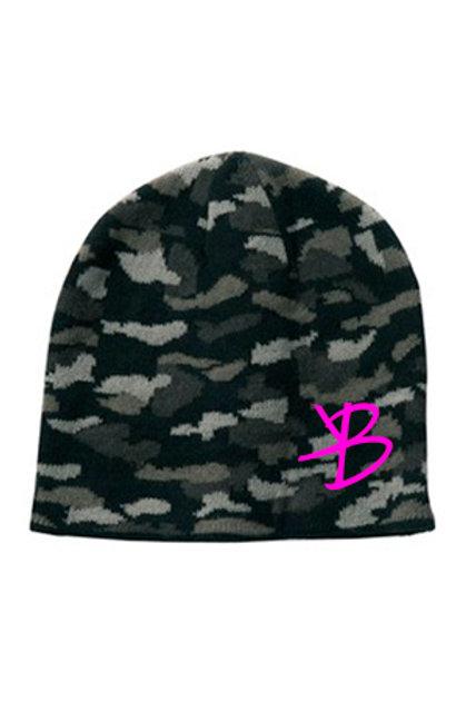Pink KB Camo Beanie