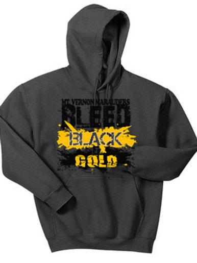 Bleed Black & Gold Hood