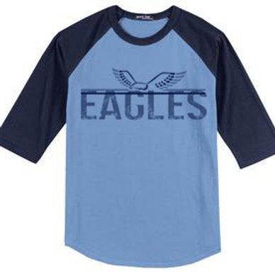 Eagles Baseball Style Raglan Tee