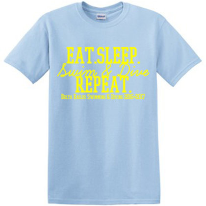Eat Sleep Sim/Dive Repeat Short Sleeve Tee