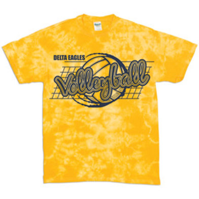 DMS Volleyball Player Tie Dye Tee