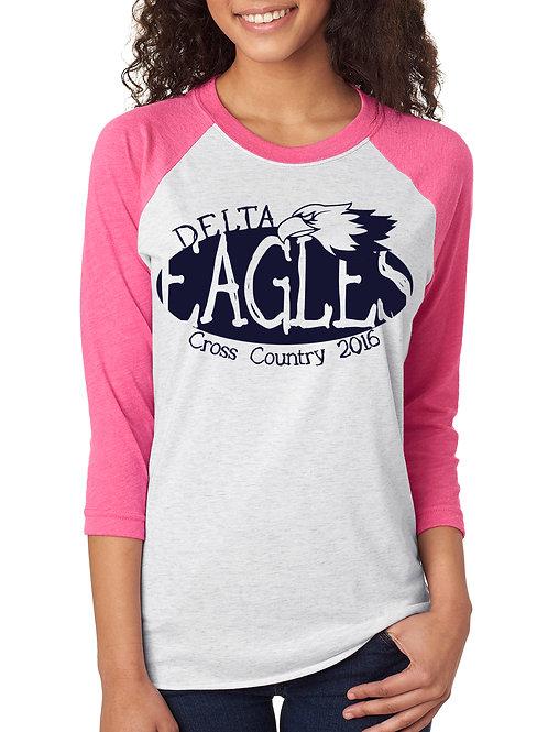 DMS Unisex Cross Country Baseball Tee