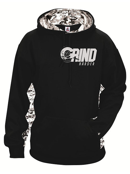 Grind Harder Moisture Wicking Camo Hood
