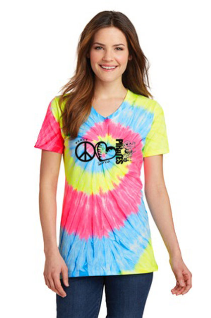 Peace Love Pirates Tie Dye Tee