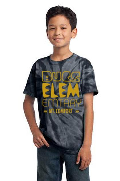 Glitter Gold BUC Elementary Tie Dye Short Sleeve Tee