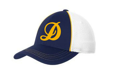 Blue and Gold Mesh Back Cap