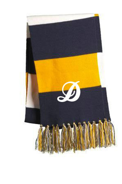 Blue and Gold Spectator Scarf