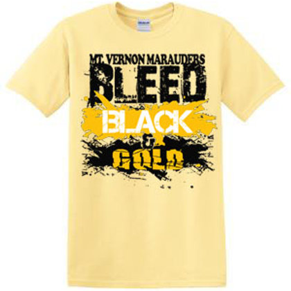 Bleed Black and Gold Short Sleeve Tee