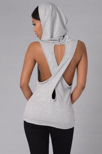 Ladies Cross Back Stringer Hoodie