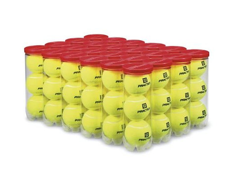 PRACTICE BALLS - YELLOW, ALL COURT TYPES, 24 CAN