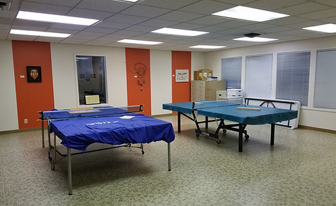 Klickitat Room set up for Table Tennis
