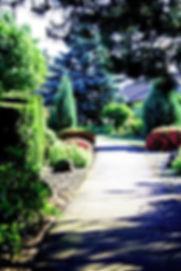 Walkway between the gardens