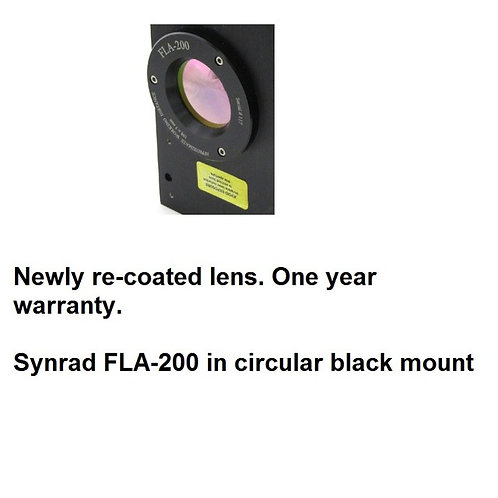 Refurbished Synrad FLA-200, f-theta lens fits Synrad brand laser markers such as