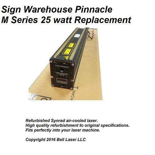 Replacement laser for PINNACLE M-SERIES 25 watt laser engraving machines. Air co