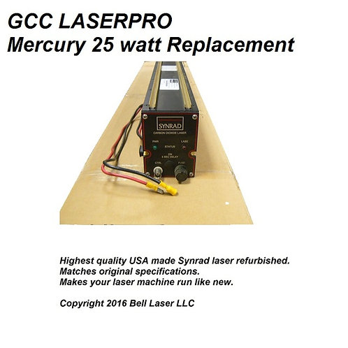 Replacement laser for GCC Laserpro MERCURY 25 watt laser engraving machines. Inc