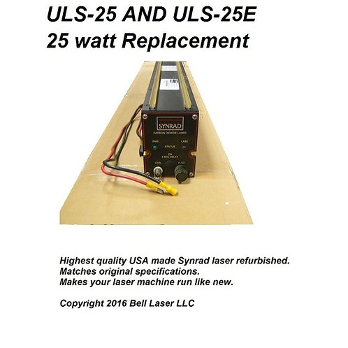 Replacement laser for ULS-25 and ULS-25E and ULS-1720c 25 watt laser engraving m