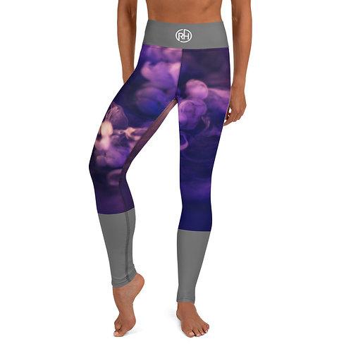 Purple Smoke Yoga Pants