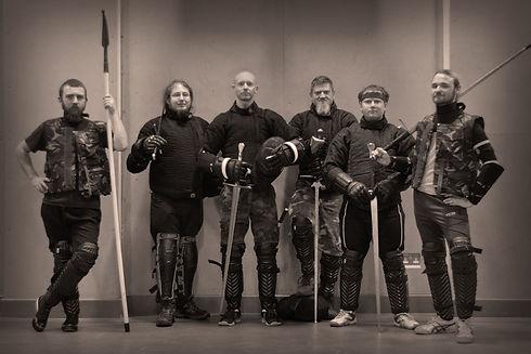 MMFC members, spear