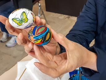 Easter Giving:ART - painted easter eggs