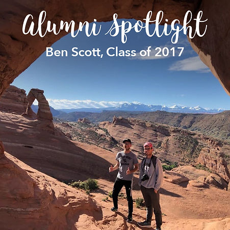 Ben S., Class of 2017, took a trip cross-country