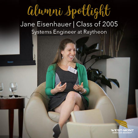 Jane E., Class of 2005, Systems Engineer at Raytheon