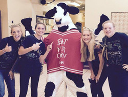 The Chick-fil-A Cow came to hang out