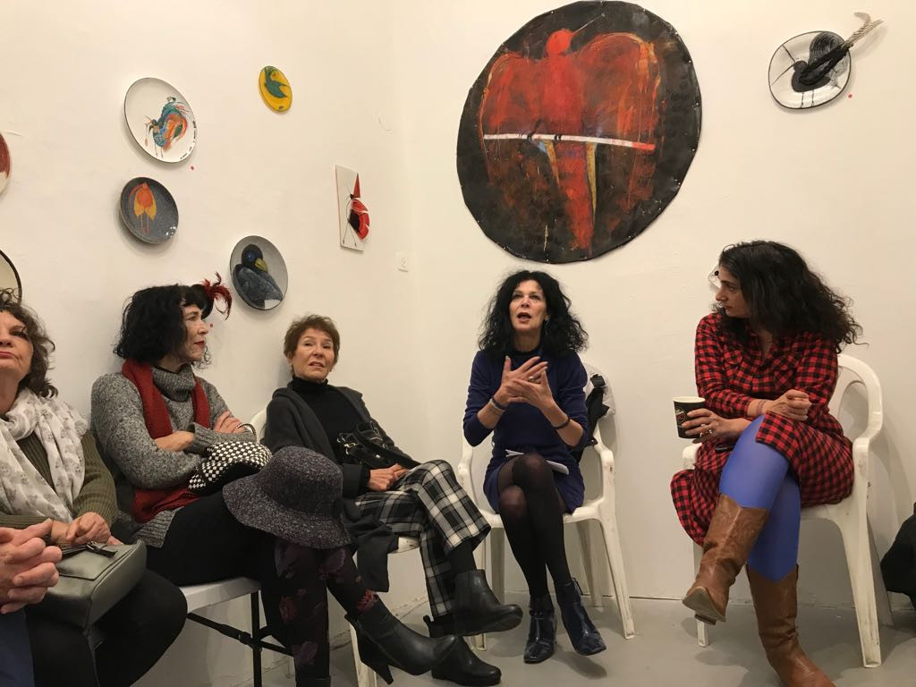 Smile happy bird, solo exhibition, artist talk  2017, artists house, tel aviv