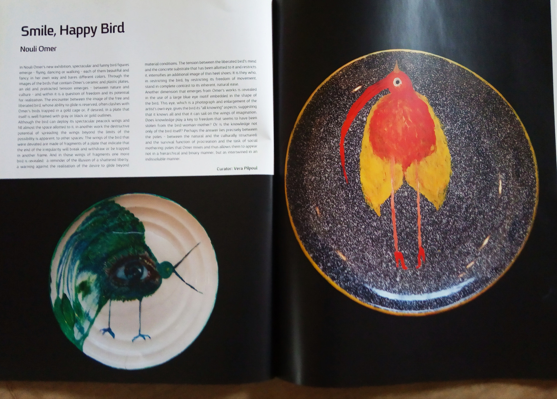 Smile happy bird, solo exhibition, artist talk  2017, artists house, tel aviv, kan magazine 2017