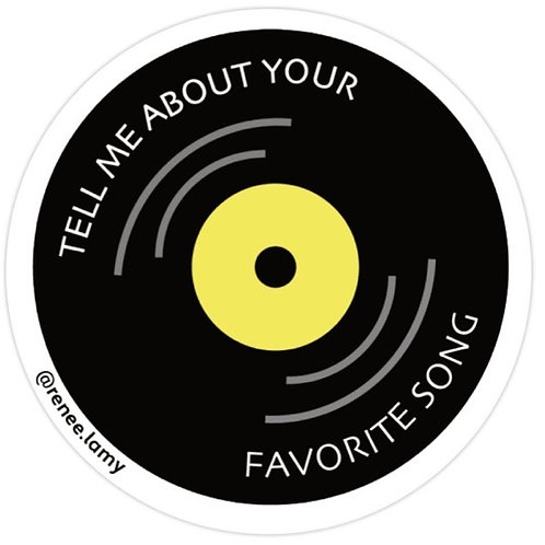 Favorite Song Sticker - Yello