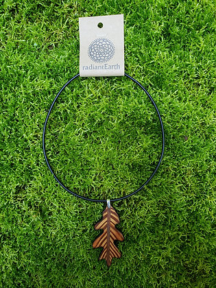 Heart Pine Oak Necklace