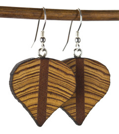 reclaimed old growth heart pine earrings