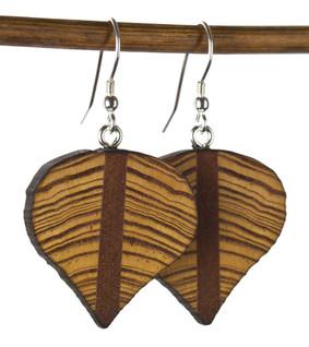 reclaimed old growth heart pine earrings