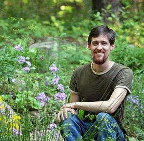 Andrew Wilson in his Garden