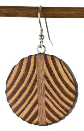 reclaimed heart pine circle earring.jpg